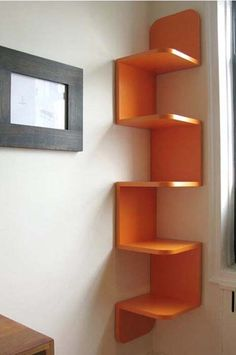 Smart Space Saving Design, or...of course I saw this as an awesome Cat shelf/climber