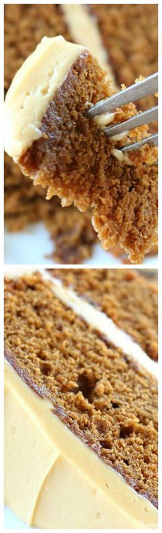 Gingerbread Cake with Molasses Cream Cheese Frosting ~ If you love gingerbread, then you will LOVE this cake... With a delicious hint of molasses, then topped with the molasses cream cheese frosting, this cake is heaven on a plate!