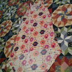 Tribal  hi-low dress.  Sz. L Never worn. Hi-Low Dress. Size Large Dresses High Low