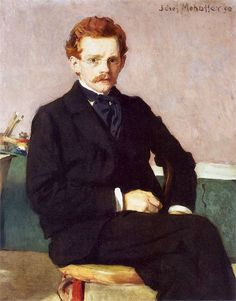 Self-Portrait , 1898 by Józef Mehoffer (Polish 1869-1946) ....Polish painter and decorative artist, one of the leading artists of the Young Poland movement and one of the most revered Polish artists of his time....