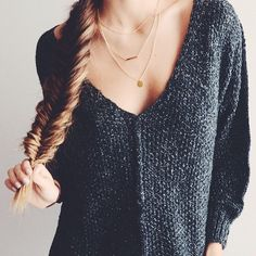 """""""I love necklaces like this! @StackedBeautifully have the prettiest! Check them out! #ad"""""""