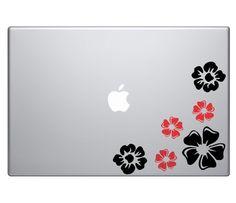 Flower Art Decal Set Vinyl Sticker Skin MacBook Pro Air Apple Mac 13 15 17