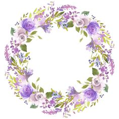 Watercolor Border, Wreath Watercolor, Watercolor Flowers, Flower Picture Frames, Flower Frame, Boarders And Frames, Floral Logo, Flower Clipart, Decoupage Paper