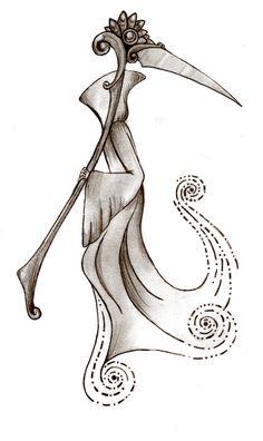 Grim Reaper by Annikki on DeviantArt Grim Reaper Art, Grim Reaper Tattoo, Grim Reaper Drawings, Tattoo Tod, Death Tattoo, Dark Fantasy Art, Dark Art, Skull Tattoos, Body Art Tattoos