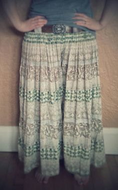 Check out this item in my Etsy shop https://www.etsy.com/listing/234773469/upcycled-skirt-flowy-pants-summer