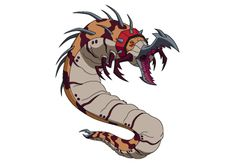 Ben 10, Slamworm is a Nemetrix alien and is the predator of Talpaedans