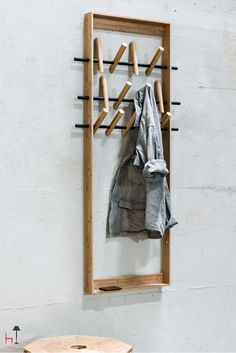 Coat Frame by We do wood is a sustainable coat hanger that blends a special attention to the environment, an elegant style and sophisticated details.
