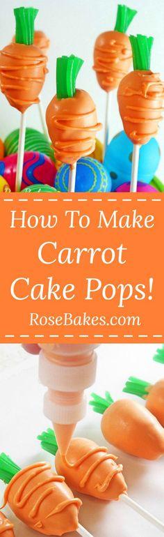 How to Make Carrot Cake Pops Tutorial by RoseBakes