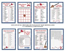 baseball baby shower games baseball theme baby games printable baseball games diy shower game baby shower game pack printables 4 less