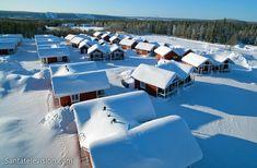 Santa Claus Holiday Village (Village de vacances du Père Noël) à Rovaniemi en Laponie, Finlande