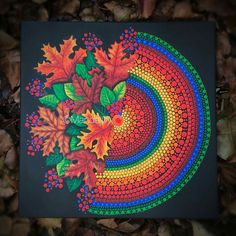 Dot Art AND Floral Designs! Yet another Mandala art piece that needs to be on Canvas! I wish I could convey how much I love these colors! Art Painting, Dot Painting, Mandala Rock Art, Art Drawings, Dot Art Painting, Painting, Art, Canvas Art, Canvas Painting