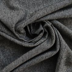 Wool - Herringbone Black and White