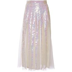 Christopher Kane Sequin Inderted Godet Skirt ($3,990) ❤ liked on Polyvore featuring skirts, christopher kane, sequin a line skirt, high waist skirt, pink skirt and pink sequin skirt