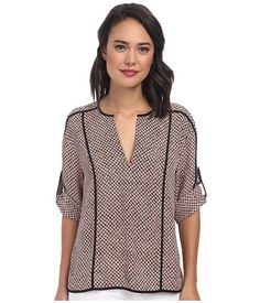 BCBGMAXAZRIA Meagan Long Sleeve Top