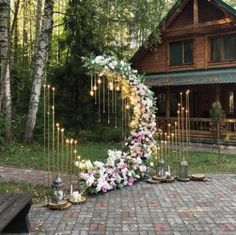 117 wedding arches that will instantly upgrade your ceremony page 27 Wedding Ceremony Decorations, Wedding Table, Decor Wedding, Whimsical Wedding Theme, Hippie Wedding Decorations, Wedding Ideas, Wedding Walkway, Wedding Ceremony Arch, Wedding Arches