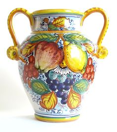Tuscan pottery vase