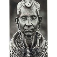 Πίνακας Glass Kenyan Woman Hobbit, Kenya, Africa, Statue, Glass, Vintage, Women, Art, Products