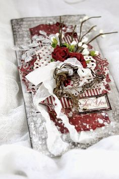 From Heather Jacob in Australia. A Textured gift Tag for Christmas - Maja Design