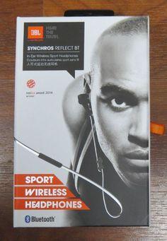JBL Synchros Reflect BT (black) In-ear Sport Wireless Headphones with Bluetooth Running Headphones, Sports Headphones, Bluetooth Headphones, Beats Headphones, Equipement Running, Headphone With Mic, Selling On Ebay, Reflection, Ear