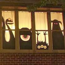 My Emiline. Living. Kids. Crafts.: Monsters University Window Silhouettes