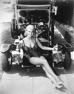 """Munsters car with the """"Ugly"""" Munster....."""