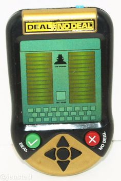 """NBC'S TV SHOW DEAL OR NO DEAL IRWIN TOY ELECTRONIC 5"""" HANDHELD VIDEO GAME 2006 #IrwinToy"""