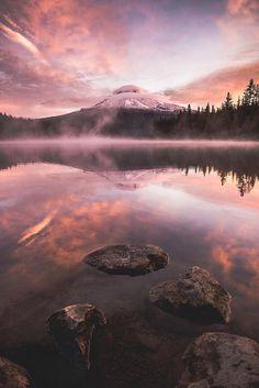Oregon's Trillium Lake ~ Photo by...Tom Hill©