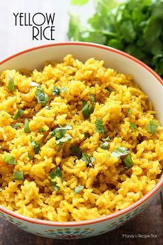 This yellow rice is by far my favorite side dish! So easy and so so good!This yellow rice is by far my favorite side dish! So easy and so so good! Rice Side Dishes, Food Dishes, Chicken Side Dishes, Pasta Dishes, Bean Recipes, Side Dish Recipes, Ricearoni Recipes, Recipes Dinner, Salad Recipes