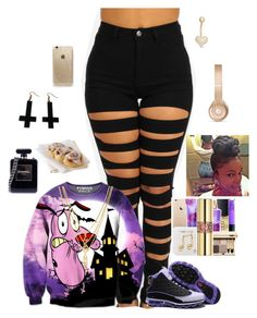 """""""bored"""" by lovebrezzy ❤ liked on Polyvore featuring Kenzo, Beats by Dr. Dre, Rifle Paper Co, Chicnova Fashion, Chanel, Gioelli Designs, women's clothing, women, female and woman"""