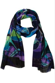 Fabryan organic wool and silk scarf inspired by Gaudi