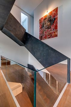 Precast railing concrete micro topping acid stain finish, creates a modern unique look. can't stop looking at the geometric.  #Betonada #Concrete #Concreteart #Architecture #Art #Craft #Texture #Interior #Pattern #Minimal #Design #Interiordesign #Artstudio #Concretestairs #microtoping