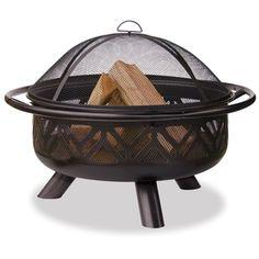 UniFlame�36-in Bronze Steel Wood-Burning Fire Pit LOWEs $199.95