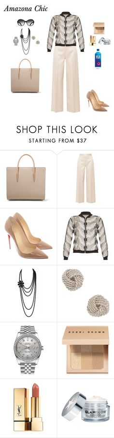 """Amazona Chic"" by arimacias on Polyvore featuring moda, Christian Louboutin, The Row, Closet, Chanel, Tiffany & Co., Rolex, Bobbi Brown Cosmetics, Yves Saint Laurent y GlamGlow"