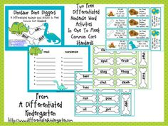 FREEBIE   Real vs. Nonsense Words 2 Activities in One Differentiated and Addresses Common Core