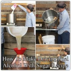 How To Make Driving Fuel Alcohol With Sugar Recipe Homesteading  - The Homestead Survival .Com
