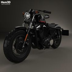Harley-Davidson Sportster 1200 Forty-Eight 2013 3d model from Hum3d.com.