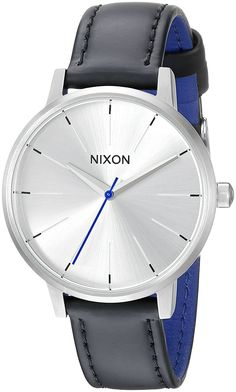 Nixon Women's A1082184 Kensington Stainless Steel Watch with Black Genuine Leather Band * Read more reviews of the watch by visiting the link on the image.