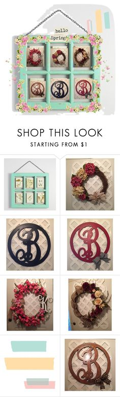 """Spring & Summer Wreaths - #EpicOnEtsy #Craftshout #EtsyChaChing #Etsymntt #GiftForHer"" by elsiescreativedesign ❤ liked on Polyvore featuring interior, interiors, interior design, home, home decor, interior decorating, Cost Plus World Market and rustic"
