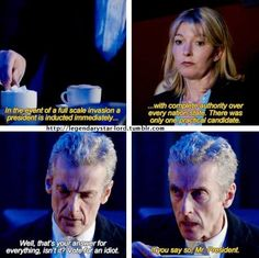 I love this, especially because at one point Martha tells Ten they brought in an expert and he didn't realize they meant him. He just never gets it!