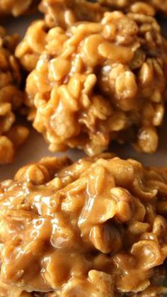 No-Bake Stovetop Peanut Butter Special K Cookies Recipe ~ Lightly crispy, peanut buttery with a hint of chocolate... a wonderful treat!