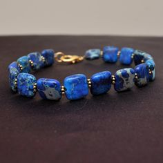 gorgeous blue stone bracelet