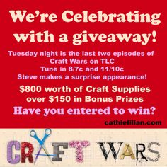 Cathie Filian {Cathie and Steve like to make things.}: $950 Craft Contest to Celebrate the Season Ending of Craft Wars #contest
