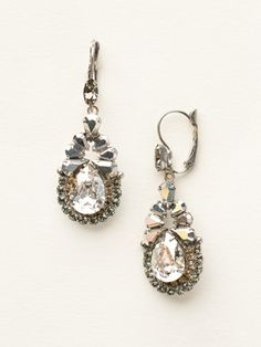 Pear Crystal Statement French Wire Earring in Golden Shadow by Sorrelli - $110.00 (http://www.sorrelli.com/products/ECT1ASGNS)
