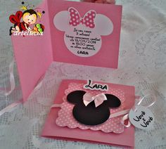 Minie Mouse Party, Minnie Mouse Pink, Mickey Mouse Clubhouse, 1st Birthdays, 2nd Birthday Parties, Birthday Cards, Miki Mouse, Mickey Birthday, Baby Invitations