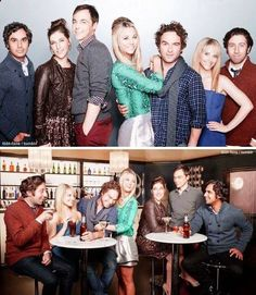 Big Bang Theory cast. But I need that sequin dress with the leather jacket.