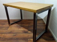 Dimensions: x x Industrial Style Dining Table, Table Dimensions, Furniture, Home Decor, Homemade Home Decor, Home Furnishings, Decoration Home, Arredamento, Interior Decorating