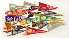 23 Vintage Maine Felt Souvenir Pennants