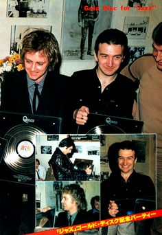 Queen celebrating 'A Night at the Opera' winning... - QUEEN