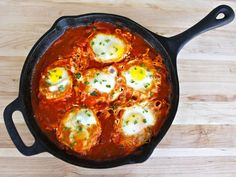Shakshuka - Recipe for Delicious Middle Eastern Egg Dish. I've calculated this for 6 people (assuming using 6 eggs) = 130 cal and 3 WW +pts per serving. Sweet!