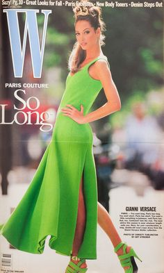 W Magazine's Supermodel Cover Girls - Christy Turlington on the cover of W Magazine August 1992